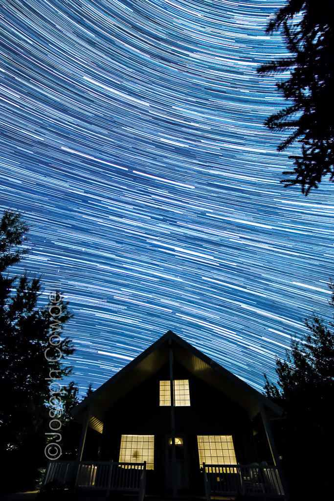 20161004 28188 Pine Valley Cabin Star Trails 2
