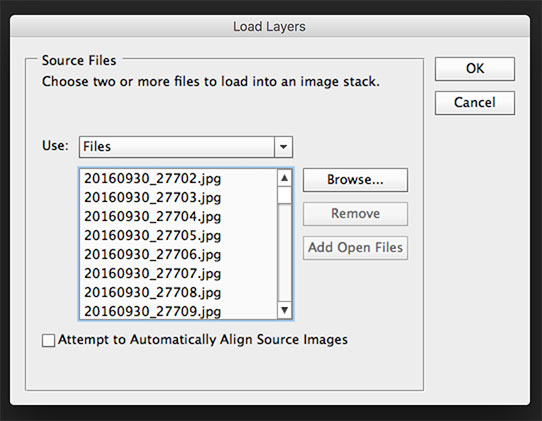 Photoshop Load Layers